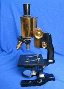Vintage Antique Spencer Brass Microscope Optical W Case