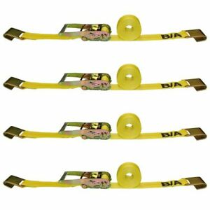 2 X 27 Ratchet Tie Down Strap With Flat Hooks 4 Pack