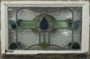 Old English Leaded Stained Glass Window Pretty Bordered Band 18 75 X 12 25