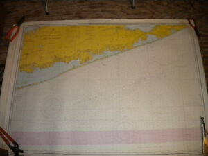 Vintage Nautical Chart 1960s Shinecock Light To Fire Island 43 X 34