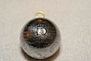 10oz Cannonball Round Fishing Lead Weights - 8 Sinkers - Free Shipping