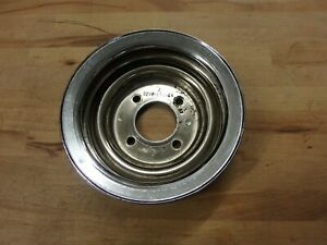 Oem 1972 79 Ford 460 Chrome Crank Pulley Lincoln Thunderbird Torino D2ve 6312 Aa