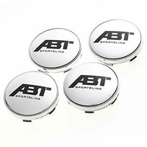 4pcs 60mm Car Wheel Center Hub Caps Emblem Badge Rim Cap For Abt