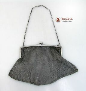Ladies Evening Mesh Purse Sterling Silver Ny 1920