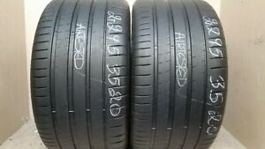 2 Tires 295 35 20 Michelin Pilot Super Sport 105y 6 50 7 50 32 75 85 Tread