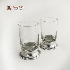 Vintage Cups Pair Sterling Silver 1940