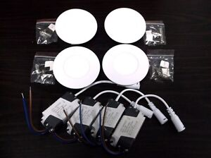 4 Bbt Super Bright Cool White Recessed 120 Vac Led Lights