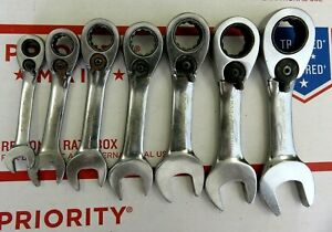 Blue Point Boer Set 7pc Ratcheting Wrench Set 5 16 3 4 Ratcheting