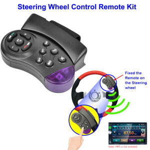 Wireless Car Steering Wheel Button Remote Control Bluetooth Stereo For Car Dvd