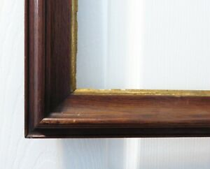 Antique Walnut Wood Picture Frame For Picture Size 10 1 8 X 12 1 8