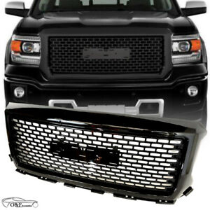 Fits 2011 To 2015 Chrysler 300 Front Bumper Upper Mesh Grill Gloss Black Grille