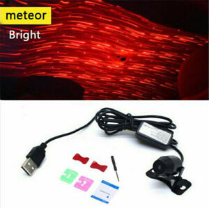 Usb Led Car Atmosphere Lamp Interior Ceiling Ambient Star Red Light Projector Us