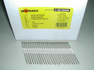 Stainless Steel12d 3 1 4 Ring Full Round Head Nails 21 Degree For Hitachi Max