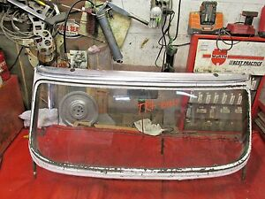 Triumph Tr4 Original Windshield Frame Glass Early Style