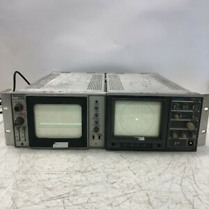 Tektronix 528a Waveform Monitor And 1720 Vector Scope Light Wear Rack Mounted