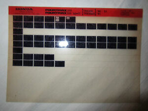 Honda 1990-1991 Fourtrax ATV 200 200D Microfiche Parts Catalog TYPE II 90 91