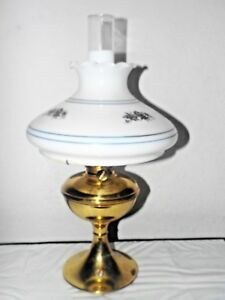 Gone With The Wind Vintage B H Brass Electric Oil Burner Hurricane Mantle Lamp