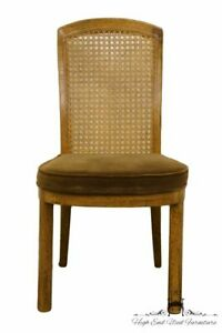 Drexel Accolade Campaign Style Cane Back Dining Side Chair