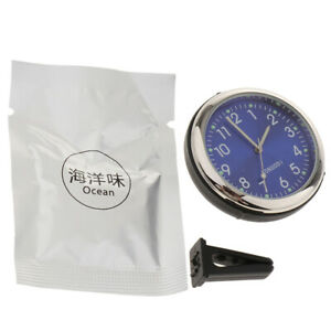 High Quality Mini Car Clock Watch Automotive Decoration Clock In Car Blue