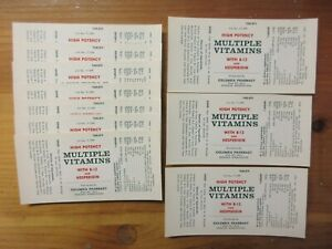 10 Old Pharmacy Apothecary Medicine Bottle Labels Vintage Ephemera Lot