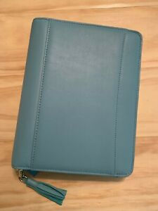 Franklin Covey Classic Binder Teal Leather