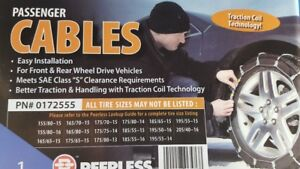 Peerless Winter Track Passenger Car Tire Cables Chains 0172555 14 15 16 Rims