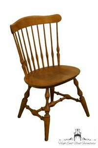 Nichols Stone Rock Maple Spindle Back Dining Side Chair 2044 20 Antique