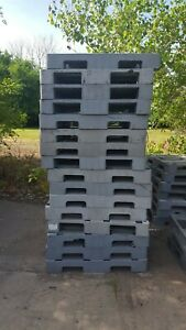 16 Various Brands Heavy Grade 43 x43 Standard Rackable Plastic Pallets