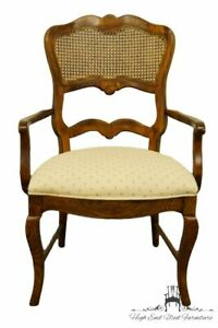 Century Furniture Country French Provincial Cane Back Dining Arm Chair