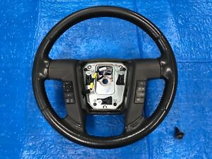 2011 2012 2013 2014 Ford F150 Fx4 Steering Wheel Leather Black W Gray Stitching