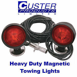 Custer Products Commercial Magnetic Towing Lights 4 Round Plug With Magnet Boots