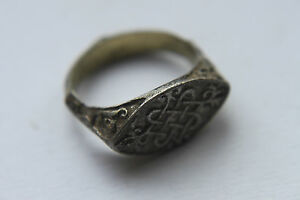 Quality Silver Medieval Period Finger Ring C 14 15th Century Ad