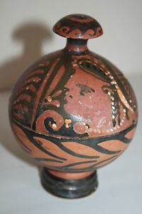 Ancient Greek Pottery Red Figure Sphere Pyxis 4th Century Bc