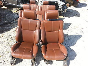 06 Jeep Commander Xk Saddle Brown Leather Seats Front Middle Row