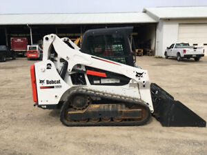 2016 Bobcat T590 Rubber Track Skid Steer Loader Cab Ac 2 Speed Bob Cat Crawler