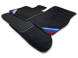 Bmw 3 Series E30 Black Floor Mats With m Power Emblem Lhd Clips New