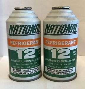 National R12 Refrigerant 2 Cans