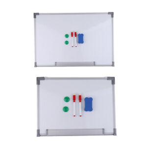Magnetic Whiteboard Dry Wipe Notice White Board With Pens Office School Home