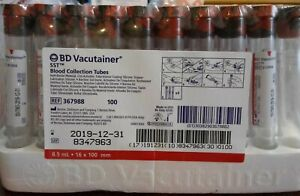 Bd Vacutainer Blood Collection Tubes 8 5 Ml Plus Plastic Sst Red