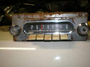 1960 1961 1962 Ford Falcon Mercury Comet Am Radio