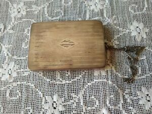 Antique Sterling Silver Compact Wallet Purse Mirror Hall Mark W