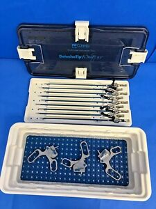 12 Piece Conmed Linvatec 5mm 33cm Laparoscopic Detachatip Rotating Forceps Set