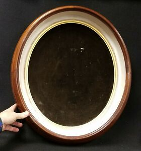 Large Antique 1870 S Walnut Deep Shadow Box Picture Frame Crafts And Displays