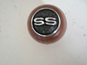 Vintage Wood Chevrolet Ss Super Sport Gear Shift Knob 1 2 X 13 Thread W Jam Nut