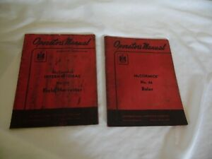 International Mccormick No 46 Baler And No 16 Field Harvester Operator s Manual