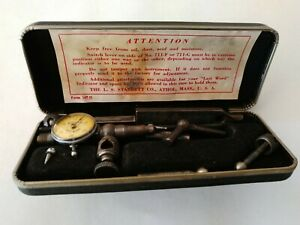 Vintage Starrett No 711 Last Word Universal Test Indicator W Original Box