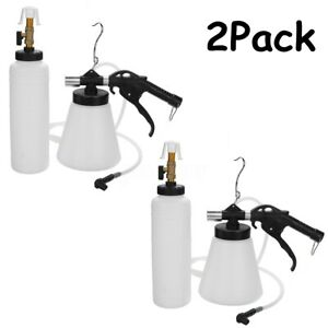 2pack Pneumatic 1l Car Brake Fluid Oil Bleeder Bleeding Oil Replacement Tool