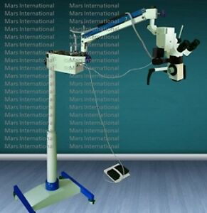 5 Step Magnification Dental Microscope With Accessories silver