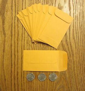 1000 Kraft Small Change Coin Envelopes With Gummed Flap 3 Size 2 5 By 4 25