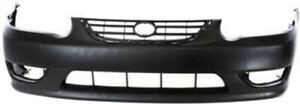Primed Front Bumper Cover Replacement For 2001 2002 Toyota Corolla
